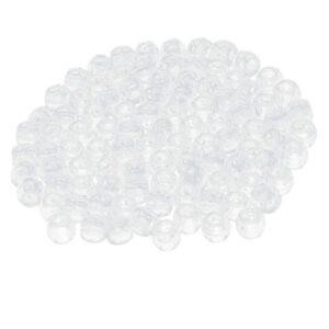 100PCS Hair Braid Beads Antique Dreads Decoration Pendants Clear