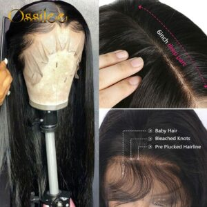 13×4/13×6 Straight Lace Front Human Hair Wigs 360 Lace Frontal Wigs Remy Brazilian Human Hair Lace Wigs for Women 250 Density