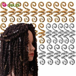20pcs Vintage metal Silver Viking Spiral dread beard dreadlock beads rings tube clips for Hair Accessories Charms