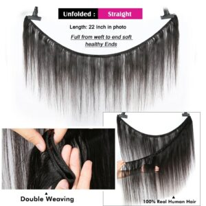 28 30 Inch Brazilian Straight Human Hair Weave Bundles With Closure 13×4 cheap Frontal With 3 4 Bundles Remy Hair