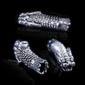 3pcs Tibetan Silver Dragon Hair Braid Bead Braiding Dread Dreadlock Tube Beads Ring Cilp Cuff For Braiding Hair Extension