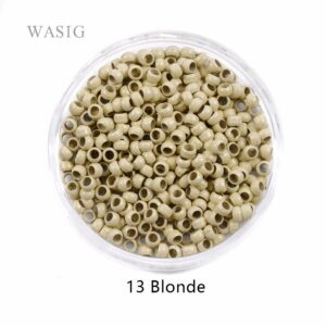 500pcs 2.5mm Nano Rings Beads for Hair Extension 13# Blonde Color