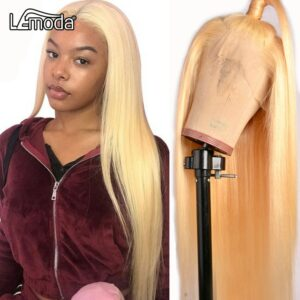613 Honey Blonde Lace Front Wig 13×6 13×4 Transparent HD Lace Wig 613 Lace Frontal Wig Straight Human Hair Wigs For Women 28Inch