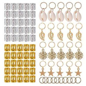 80/90/100pcs Gold Silver Hair Ring Braid Dreadlocks Bead Hair Cuffs Dread Tube Charm Dreadlock Accessaries Extension