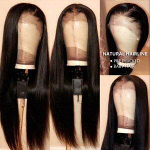 Ali Annabelle Brazilian Straight Lace Front Human Hair Wigs 13×4 Lace Frontal Wigs Pre Plucked Hairline Lace Closure Frontal Wig