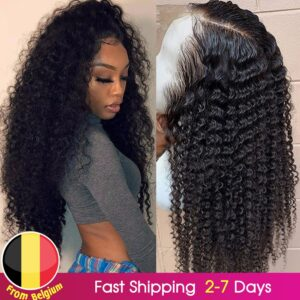 BEAUDIVA Brazilian Kinky Curly Human Hair Wig PrePlucked 13*4 Lace Front Human Hair Wigs with Baby Hair Curly Lace Front Wig