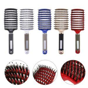 Buy 2 Get 2%off Hair brush Girls Hair Scalp Massage Comb Women Wet Curly Detangle Hair Brush for Salon Hairdressing Styling Tool