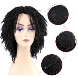 Dreadlock Crochet Twist Hair Wigs Soft Short Bouncy Curly Synthetic Wigs For Black Women Synthetic Crochet Soul Locs Braid Wigs