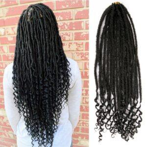 Dream Ice's Goddess Hair Ombre Faux Locs Crochet Braids 20inch Soft Natural Braid Dread Lock Synthetic Braiding Hair Extension