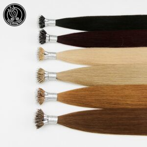 Fairy Remy Hair Nano Ring Tip Micro Beads Real Remy Natural European Human Hair Extensions Highlights 16 18 20 Inch 0.8g/strand