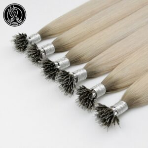 Fairy Remy Hair Pre Bonded Micro Link Human Hair Extensions Ice Blonde Color 16-22 Inch 0.8g/s Micro Beads Real Remy Human Hair