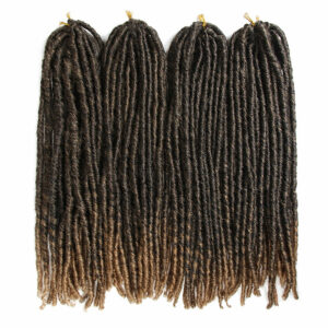 Faux Locs Synthetic Braids Straight Hair Extensions Pure Black Color Blonde Crochet Braiding Dreadlocks Braid Afro Hairstyle