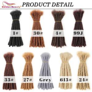 Golden Beauty Hair-Extensions 10inch Dreadlocks Fashion Hip-Hop Style Men Handmade Synthetic Crochet Dread locs Janet Collection