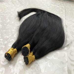 Hair Straight Machine Made Remy Hair Extensions 0.8g/pcs 50pcs/ Set Straight Keratin I Tip Human Hair