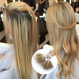 Isheeny 14″ 18″ 22″ Remy Micro Beads Hair Extensions In Nano Ring Links Human Hair Straight 9 Colors Blonde European Hair