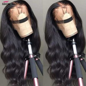 Ishow Body Wave Lace Front Wig Pre Plucked Body Wave Human Hair Wigs 4×4 Lace Closure Wig Brazilian Human Lace Frontal Wig