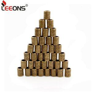 Leeons Hair Beads for Braids Hair Rings For Braids Dreadlock Accessories Metal Beads For Dreads Hair Extension 20 Pcs Cuffs/Tube