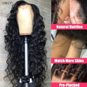 Loose Wave Wig Lace Front Human Hair Wigs Brazilian Human Hair Wigs Remy Lace Frontal Wig Pre-Plucked Closure Wig for Women