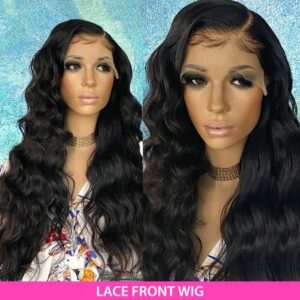 Luvin Body Wave 360 Lace Frontal Wigs 26 28 30 Inch Pre Plucked With Baby Hair Brazilian Human Hair 180 Density Front Wig Remy