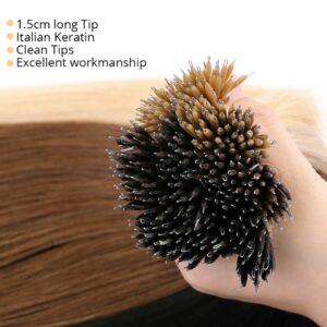 MRSHAIR Nano Ring Hair Extensions MachineMade Remy Micro Ring Human Hair Extensions with Tools DIY Pre Bonded 200pcs 12-16Inch