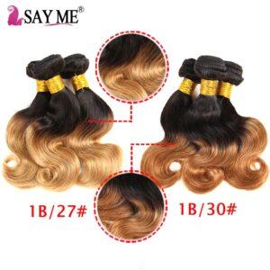 Ombre Brazilian Body Wave Bundles With Closure Honey Blonde Ombre Bundles With Closure Remy Human Hair 3 Bundles With Closure