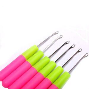 Plastic Handle Hook Loop Threader 10pcs/pack For Micro Loop Hair /Nano Ring Beads Cold /Hook Loop Theader
