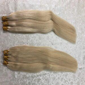 QHP Hair Straight Machine Made Remy Hair Extensions 50pcs/ Set Straight Keratin I Tip Human Hair