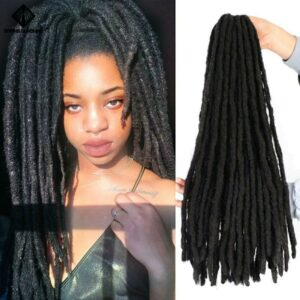 Spring sunshine Faux Locs Crochet Braids Soft Dread 18inch Synthetic Braiding Hair Extension Afro Hairstyles