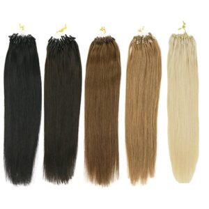 Toysww Straight Micro Loop Hair Extensions 14″-24″ 1g/s 100% Micro Ring Human Hair Extensions 50g 100g/Pack