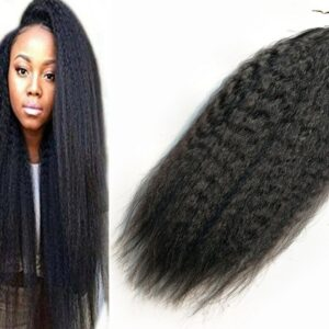 Wholesale Price High Quality Indian Remy Virgin Human Kinky Straight Natural Black 14 16 18 20 100g Micro Ring Hair Extensions