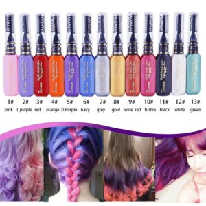 13 Colors One-off Hair Color Dye Temporary Non-toxic DIY Hair Color Mascara Washable One-time Hair Dye Crayons