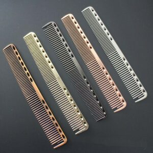 1pc Small Stainless Steel Hair Comb Professional Hairdressing Combs Hair Cutting Dying Hair Brush Barber Tools Salon Accessaries