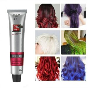 50/92ML Hair Dye Tint Semi Permanent Hair Coloring Cream 6Colors Hair Care Styling Tools Women/Men Fashion Natural Easy to use