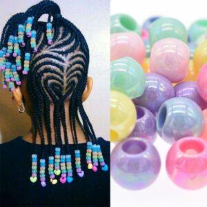 50pcs/lot Dreadlocks Hair Ring Hair Braid Beads hair braid dread dreadlock Beads cuffs clips approx 6mm hole