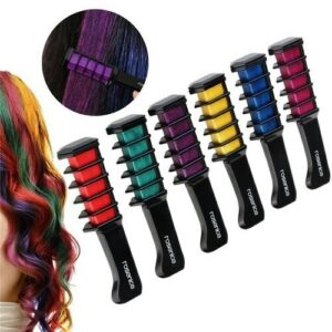 9 Colors Disposable Hair Dye Comb Temporary Hair Chalk Color Comb Dye Tool Cosplay Party Hairs Styling Dyeing Tool TSLM1