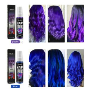 Disposable Hair Quick Spray Lasting Security Waterproof Hair Dye Purple Red White Fashion Instant Hair Color Products TSLM2