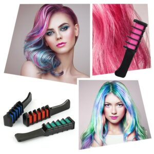Fashion 6 Colors Mini Disposable Personal Use Hair Chalk Color Comb Dye Kits Temporary Party Cosplay Salon Hair Coloring TSLM2