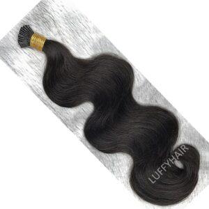 Brazilian Body Wave I Tip Hair Remy Human Hair Micro Links Keratin I Tips Hair 100 strand For Women