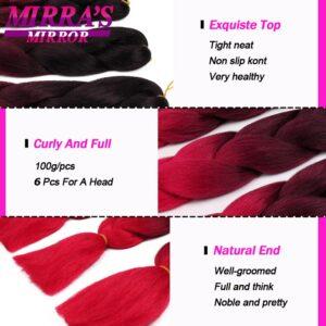 Mirra's Mirror Braiding Hair Extensions 24inches Synthetic Jumbo Braids Hair for Box Braids Twist Braids Yaki Texture