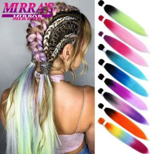 Mirra's Mirror Braids Ombre Braiding Hair Extensions 24inches Synthetic Jumbo Braids Hair Three/Two Tone Pink Red Green