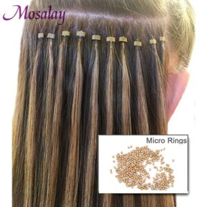 200 pcs Micro Ring Silicone Bead Link Microring for Feather Hair Extension Rings Tubes Accessory Fashion Salon Hairstylist Tools